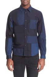White Mountaineering Trim Fit Patchwork Shirt