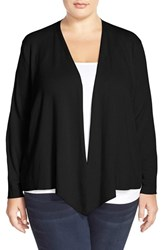 Nic Zoe Plus Size Women's 4 Way Convertible Cardigan Black Onyx