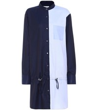 Public School Colorblock Cotton Shirt Dress Blue