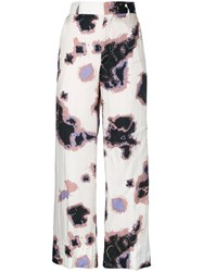 Theatre Products Printed Palazzo Pants White