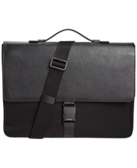 Calvin Klein Nylon And Saffiano Leather Briefcase