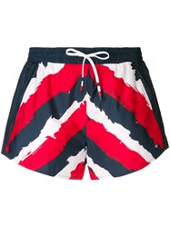 Tommy Hilfiger Striped Shorts Blue