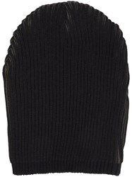 Strateas Carlucci Ribbed Cat Eye Beanie Black