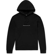Calvin Klein 205W39nyc Andy Warhol Foundation Oversized Printed Embroidered Loopback Cotton Jersey Hoodie Black