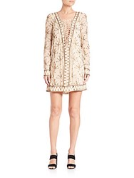 Free People Sicily Beaded Party Dress Ivory