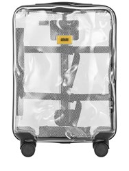 Crash Baggage 40L 4 Wheel Share Clear Carry On Trolley Transparent