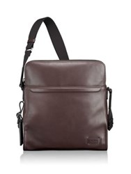 Tumi Harrison Stratton Leather Crossbody Bag Brown
