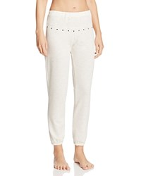 Eberjey Lexie Slim Studded Pants Peppered Cream