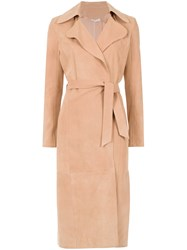 Spacenk Nk Trench Coat Pink And Purple