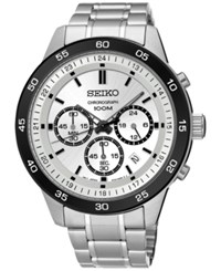 Seiko Men's Chronograph Special Value Stainless Steel Bracelet Watch 44Mm Sks531 Silver