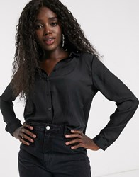 Pimkie Self Stripe Shirt In Black