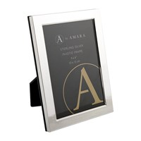 A By Amara Sterling Silver Dotted Line Photo Frame 4X6