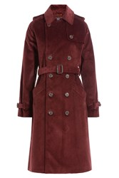 A.P.C. Corduroy Trench Coat Red