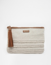 Mango Clutch Bag With Tassel Beige