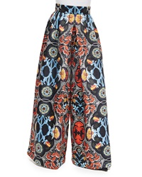 Alice Olivia Baroque Print High Waist Pants