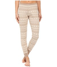 Ugg Hazelton Pants Sugar Pine Fair Isle Women's Casual Pants Beige