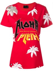 Philipp Plein Aloha Embroidered T