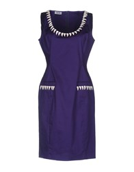 Moschino Cheap And Chic Short Dresses Purple