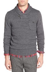 Men's Bonobos Shawl Collar Pullover Sweater Grey