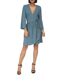 B Collection By Bobeau Forrest Faux Wrap Dress Dusty Teal