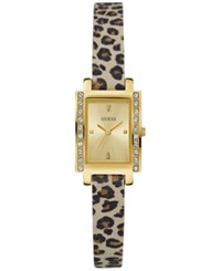 Guess Women's Animal Print Leather Strap Watch 20Mm U0888l3 Gold