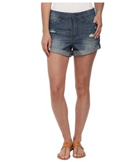 Volcom Stoned Midi Shorts Lightweight Vintage Women's Shorts Blue