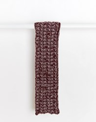 Asos Scarf In Burgundy Chunky Cable