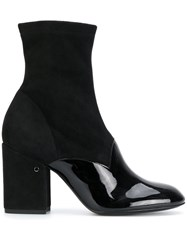 Laurence Dacade Ankle Boots Leather Patent Leather Suede Black