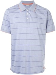 Gieves And Hawkes Striped Polo Shirt Purple