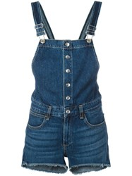 Rag And Bone Jean 'Lou' Short Overall Blue