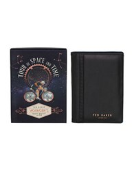 Ted Baker World Traveler Wallet And Stainless Steel Pen Set Black