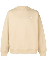 Tom Wood Logo Sweatshirt Neutrals