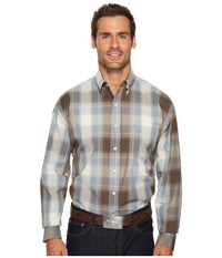 Stetson 1168 Silt Plaid Brown Men's Long Sleeve Pullover