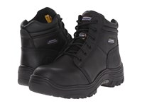 Skechers Burgin Black Pitstop Oiled Men's Lace Up Boots