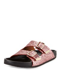 Swiss Glitter Double Buckle Sandal Pink Givenchy