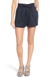 Women's Chloe And Katie Paperbag Shorts Navy
