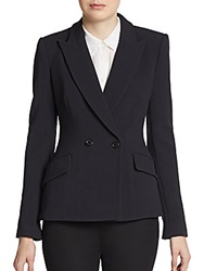 Pink Tartan Tiffany Peak Lapel Jacket Black