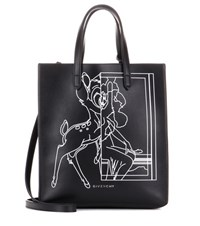 Givenchy Stargate Bambi Small Leather Tote Black