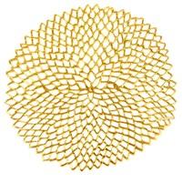Chilewich Pressed Vinyl Dahlia Round Placemat Gold