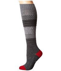 Smartwool Popcorn Cable Knee Highs Medium Gray Women's Knee High Socks Shoes White