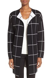 Nordstrom Women's Collection Cashmere Blend Windowpane Sweater Jacket