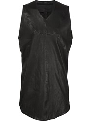 Julius Leather Vest Black
