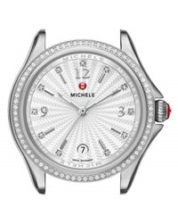Michele 37Mm Belmore Stainless Steel Watch Head With Diamonds