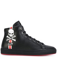 Philipp Plein Hot Springs Hi Top Sneakers Men Calf Leather Leather Rubber 41 Black