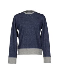 Officine Generale Topwear Sweatshirts Men Dark Blue
