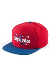 American Needle 400 Series Nhl Hat Capitals Red Royal Blue