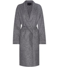 Alexander Wang Mouline Coat Grey