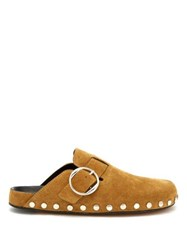 Isabel Marant Mirvin Suede Clogs Tan