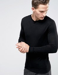 Selected Homme Crew Neck Merino Knit Black