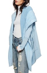 Free People Women's Brentwood Cotton Cardigan Sky